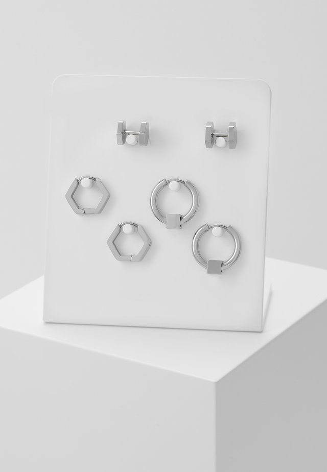 CONVEYOR EARRING SET - Øredobber - silver-coloured