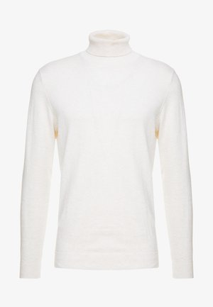 SLHTOWER ROLL NECK  - Svetr - white melange