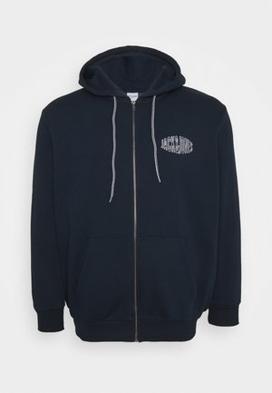 JORPRESTON ZIP HOOD  - Zip-up hoodie - navy blazer