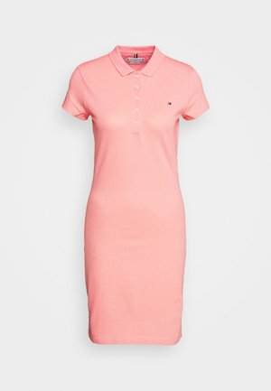 SLIM POLO DRESS - Day dress - watermelon pink