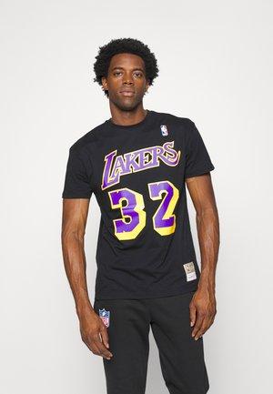 NBA LOS ANGELES LAKERS MAGIC JOHNSON NAME AND NUMBER TEE - Fanartikel - black