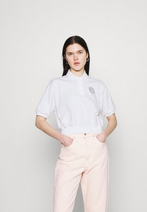 FEMME CROP - Poloshirts - white/smoke grey
