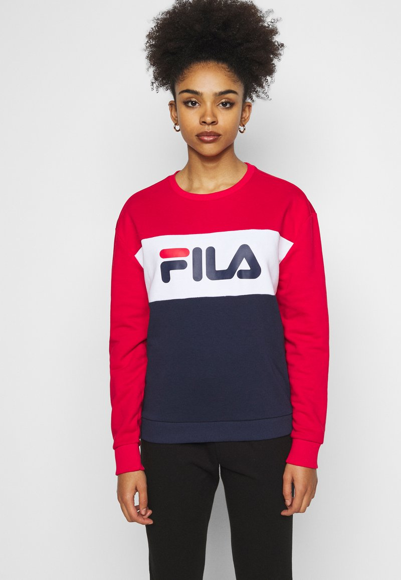 Fila Petite - LEAH CREW - Sweatshirts - black iris/true red/bright white