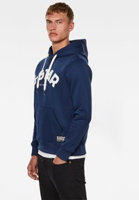 G-Star - VARSITY FELT HOODED LONG SLEEVE - Sweat à capuche - imperial blue - 2