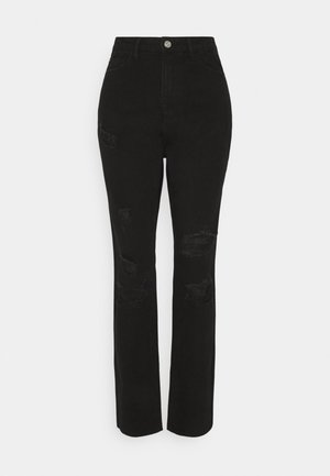 DISTRESSED - Jean slim - black