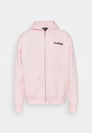 ZIP UP HOODIE UNISEX - Zip-up sweatshirt - pink