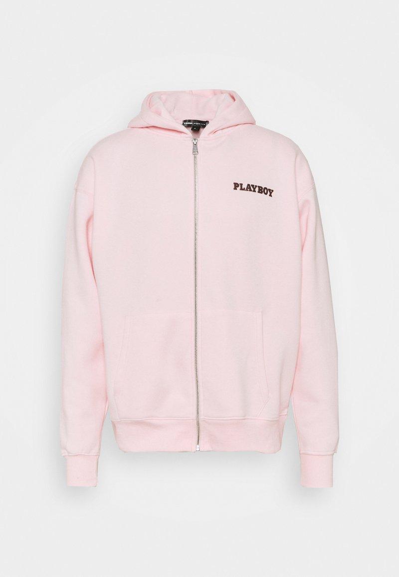 Mennace - ZIP UP HOODIE UNISEX - Felpa con zip - pink