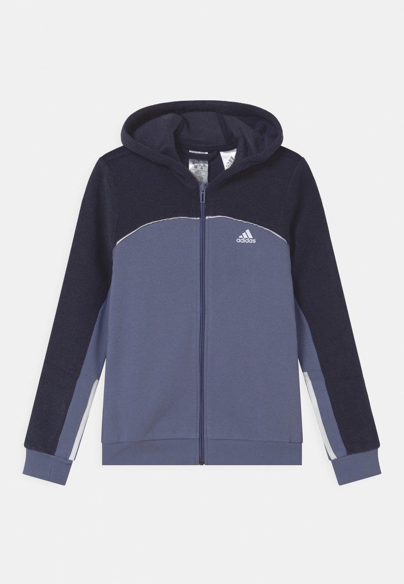 adidas Performance - Zip-up sweatshirt - orbit violet/legend ink/white