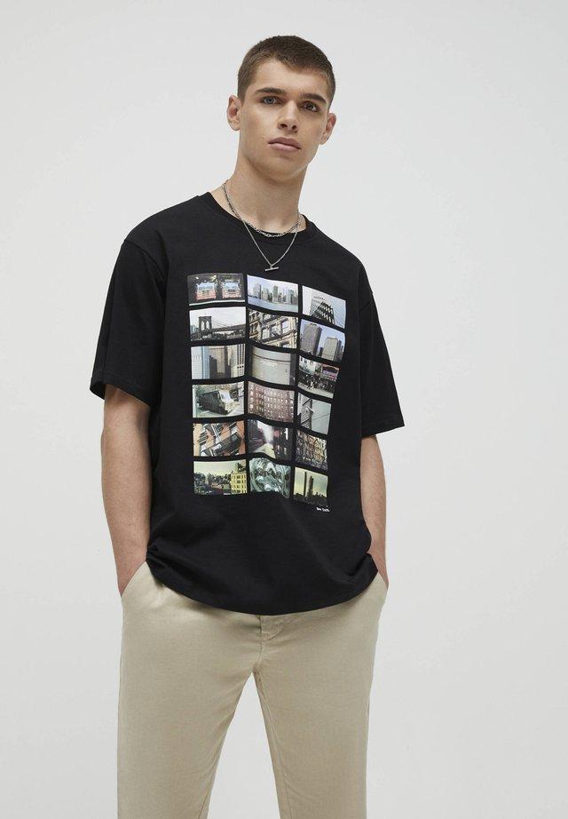 MIT STÄDTEMOTIV - T-shirt con stampa - black