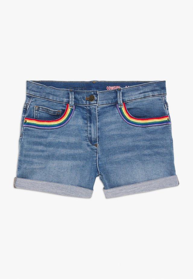 RAINBOW POCKET - Shorts vaqueros - sasha wash