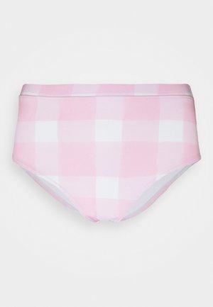 THE LILO BOTTOM PAINTED GINGHAM - Bikinialaosa - cloud pink