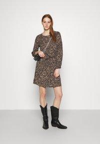 ONLY - ONLNOVA LUX DRAW STRING DRESS - Kjole - black - 1