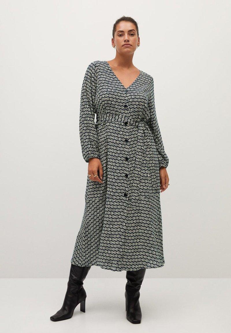 Violeta by Mango - LEOPARD7 - Shirt dress - ecru