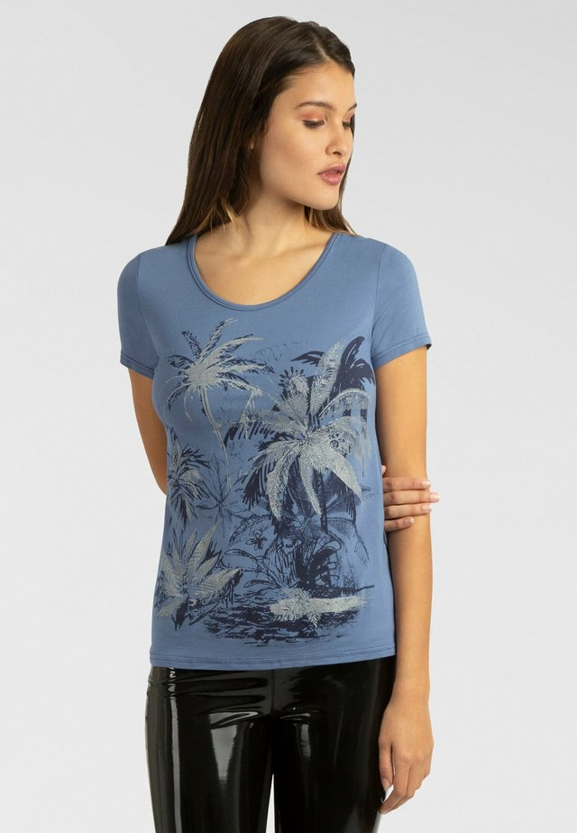 T-shirt imprimé - blau