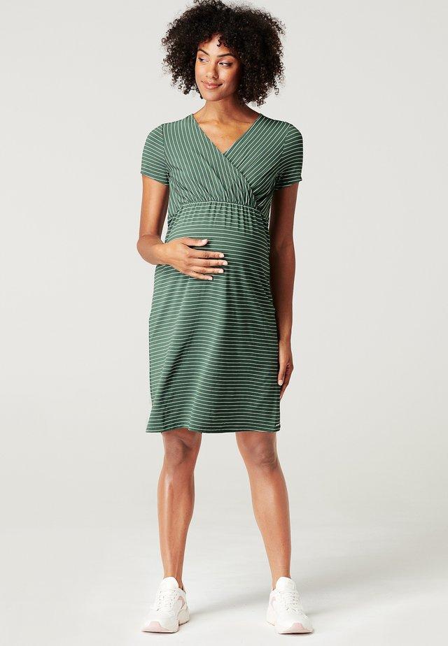 Korte jurk - vinyard green