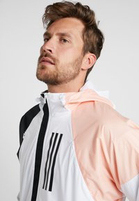 adidas Performance - Veste coupe-vent - white/black/glow pink - 3