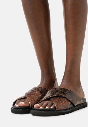 Sandalias planas - brown