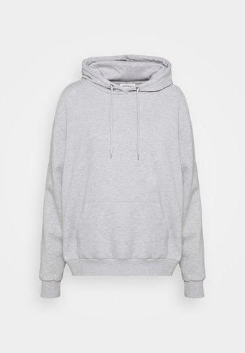 Sweat à capuche - mottled light grey