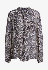 SET - Button-down blouse - black/white - 4