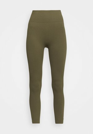 LIFESTYLE SEAMLESS 7/8 - Tights - deep moss chevron