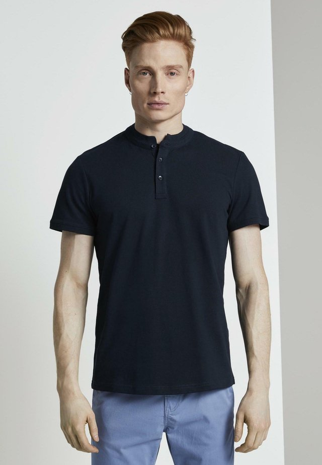 POLOSHIRTS HENLEY T-SHIRT - Polo - sky captain blue