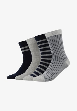 CREW SOCKS ECO DIM STYLE 4 PACK - Sukat - grey/blue