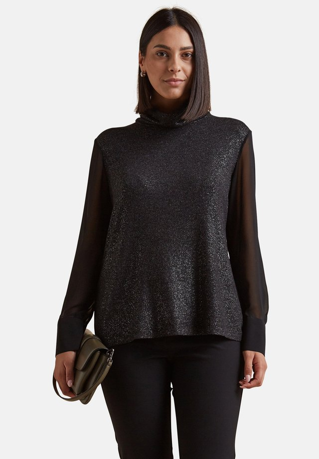 LUREX MIT ÄRMELN AUS  - Long sleeved top - nero
