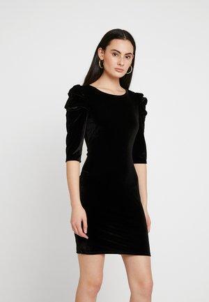PUFF SLEEVE BODYCON - Pouzdrové šaty - black
