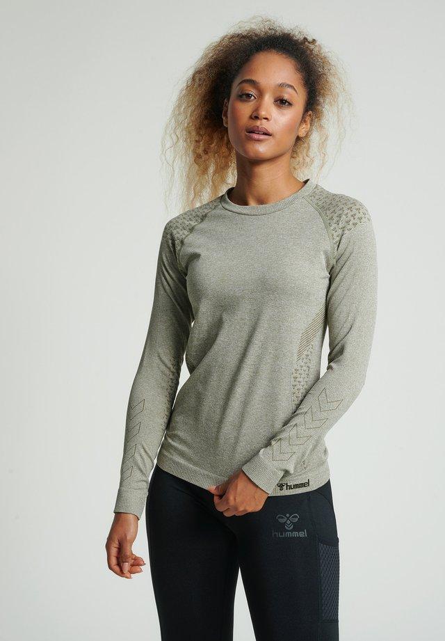 HMLCI SEAMLESS  - Långärmad tröja - vetiver melange
