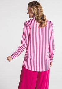 Eterna - Button-down blouse - pink weiss - 1
