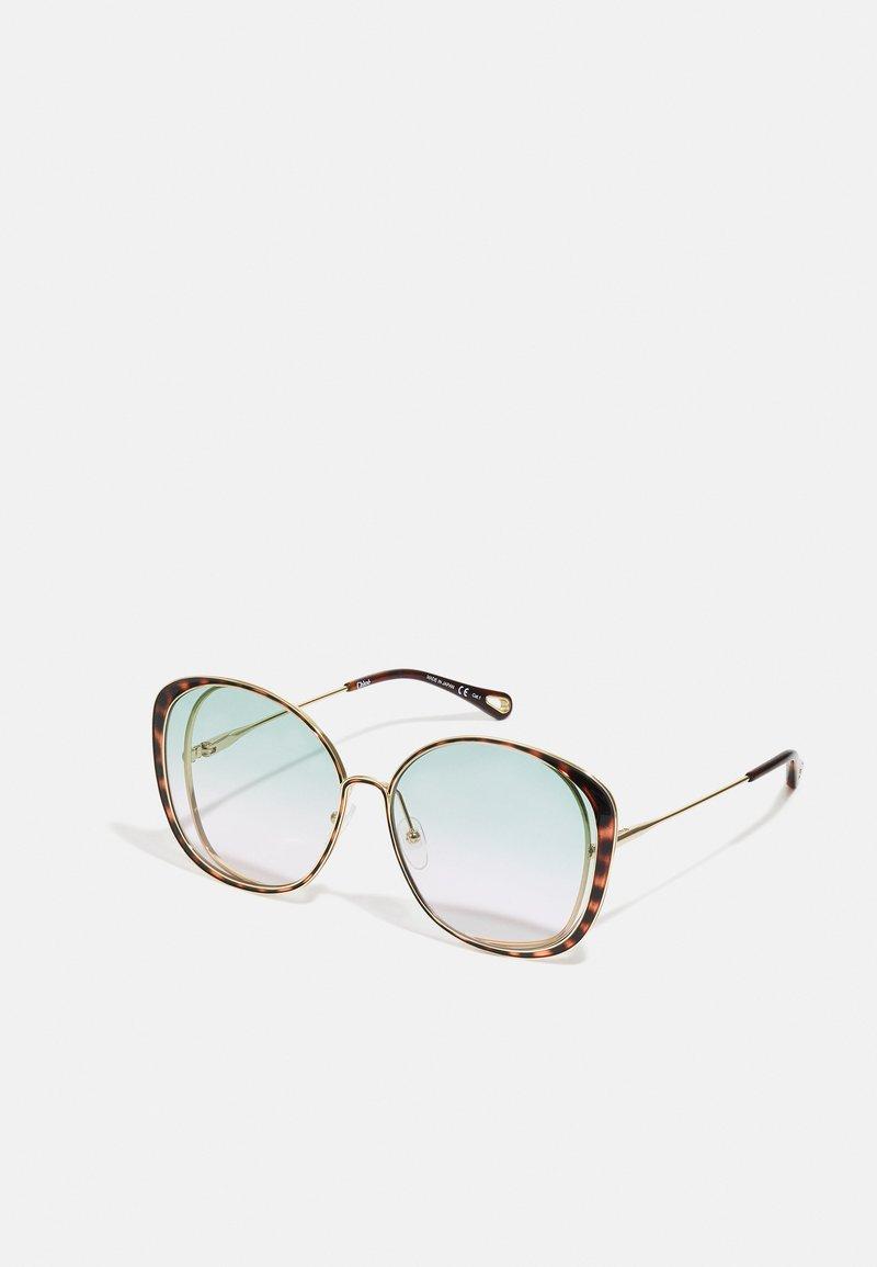 CHLOÉ - Sunglasses - gold-coloured/green