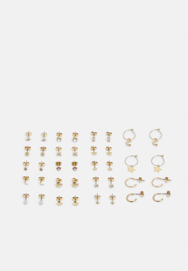 Pieces - PCQORI EARSTUDS KEY 20 PACK - Pendientes - gold-coloured