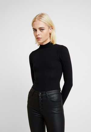 SCOOP ESSENTIAL BODY - Top s dlouhým rukávem - black