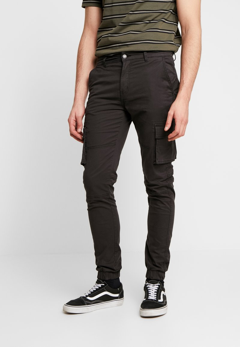 Denim Project - CARGO PANT PLAIN - Bojówki - black