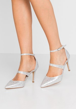 GINGERA ALL OVER TRIM COURT SHOE - High heels - silver