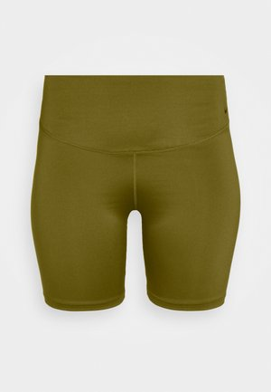 ONE SHORT PLUS - Legginsy - olive flak/white
