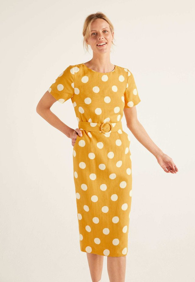 MIT GÜRTEL - Day dress - sunny yellow