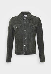 GENTS - Leather jacket - dark grey