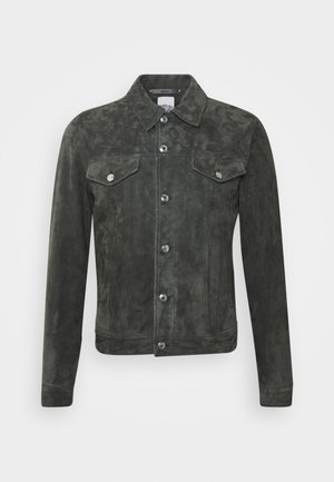 Leather jacket - dark grey
