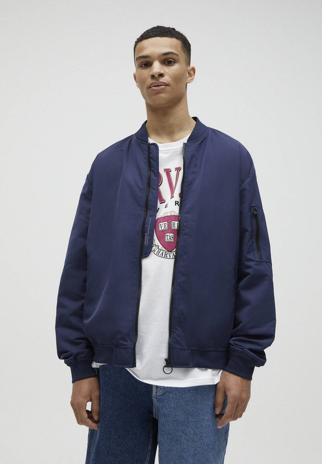 Giubbotto Bomber - mottled dark blue