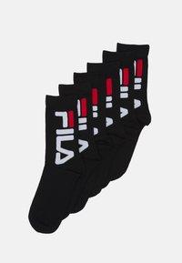 Fila - LIFESTYLE PLAIN SOCKS 6 PACK UNISEX - Strumpor - black - 0
