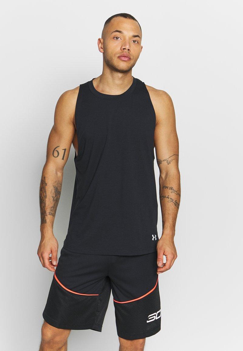 Under Armour - BASELINE TANK - T-shirt de sport - black/white