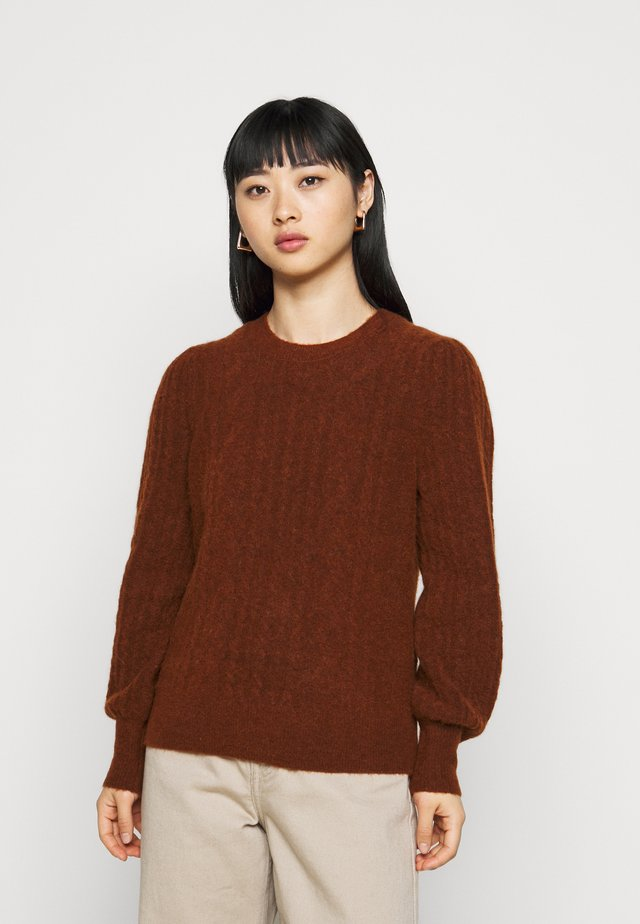 CABLEVOLUME SLEEVE - Trui - toffee