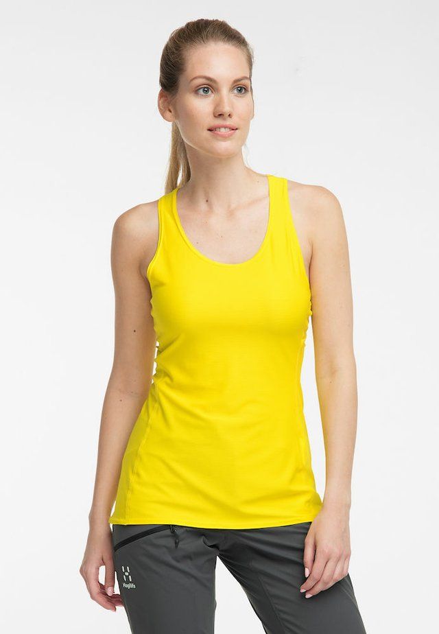 L.I.M TECH TANK - Sports shirt - signal yellow
