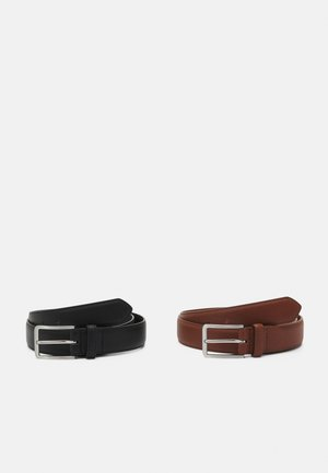 2 PACK - Gürtel - brown/black