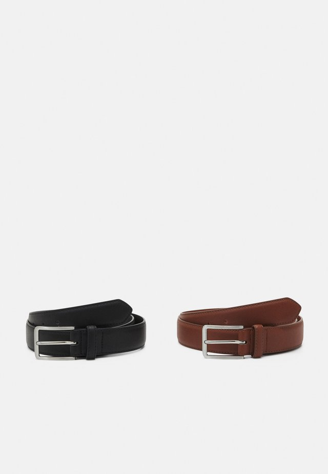2 PACK - Bælter - brown/black