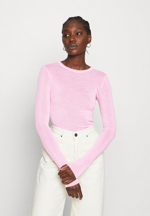 Long sleeved top - strong pink