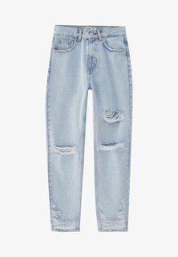 PULL&BEAR - Straight leg jeans - mottled royal blue - 7