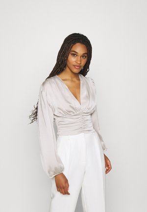 VICTORIA BLOUSE - Long sleeved top - silver cloud