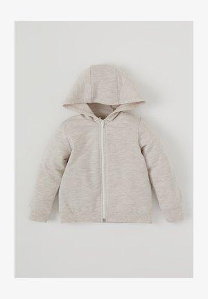 Zip-up sweatshirt - ecru